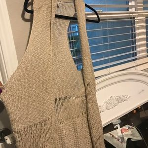 Sweaters - Long woven overlay